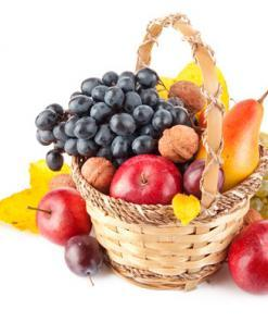 Delicious Fruity Basket With Fruits